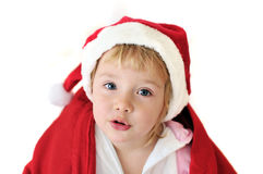Funny santa girl Royalty Free Stock Image