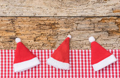 Funny Santa hats Royalty Free Stock Photos