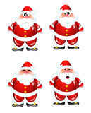 Funny Santa humor set Royalty Free Stock Image