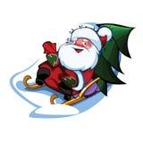 Funny santa. I present to you a Christmas icon - Funny santa Royalty Free Stock Photography