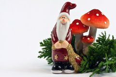 Funny Santa Ornament Royalty Free Stock Photography
