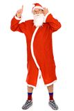Funny Santa pointing Royalty Free Stock Photography