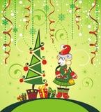 Funny santa sheep 2015 Stock Images