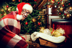 Funny santa Royalty Free Stock Image