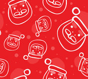 Funny Santas Seamless Pattern Royalty Free Stock Photos