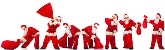 Funny Santos Clause Royalty Free Stock Photos