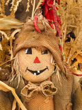 Funny scarecrow with burlap clothes Royalty Free Stock Images