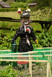 Funny scarecrow decoration Royalty Free Stock Images