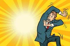 Funny scared man. Comic book cartoon pop art retro illustration vector illustration