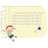 Funny school boy Royalty Free Stock Images