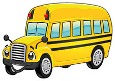 Funny school bus. stock photography