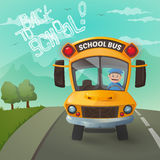 Funny school bus illustration Royalty Free Stock Photos