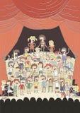 Funny school choir singing poster Royalty Free Stock Photos
