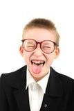 funny schoolboy Royalty Free Stock Image
