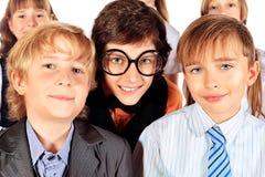 Funny schoolchildren Royalty Free Stock Images