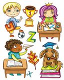 Funny schoolchildren series 1 Stock Images