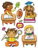 Funny schoolchildren series 2 Stock Image