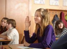 Funny schoolgirl Stock Photography