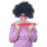 Funny schoolgirl Stock Images