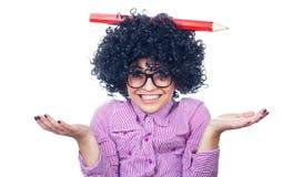 Funny schoolgirl Royalty Free Stock Photos