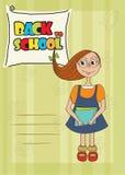 Funny schoolgirl Stock Photos