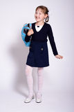 Funny schoolgirl Stock Photo