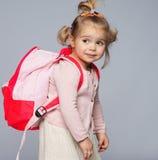 Funny schoolgirl Stock Image