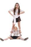 Funny schoolgirls Stock Photo