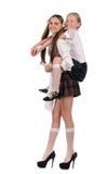 Funny schoolgirls Stock Image