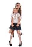 Funny schoolgirls Stock Images
