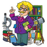 Funny scientist or inventor, Profesion ABC series Stock Images