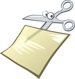 Funny scissors. Illustration clip-art of funny scissors Royalty Free Stock Photography