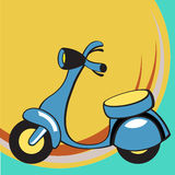 Funny scooter vector illustration