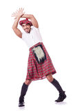 Funny scotsman dancing Royalty Free Stock Photography