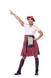 Funny scotsman dancing Stock Photography