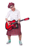 Funny scotsman with guitar Stock Photography
