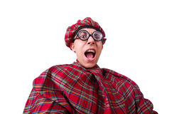 Funny scotsman. Isolated on the white Royalty Free Stock Photography