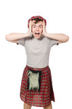 Funny scotsman isolated Royalty Free Stock Photo