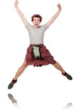 Funny scotsman isolated Royalty Free Stock Image
