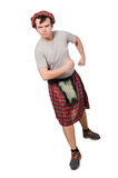 Funny scotsman isolated Royalty Free Stock Images