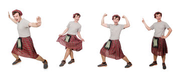 The funny scotsman isolated on white Royalty Free Stock Image