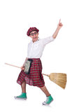 Funny scotsman Stock Photo
