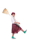 Funny scotsman Stock Photography