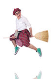 Funny scotsman. Isolated on the white background Stock Photo