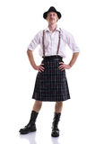 Funny Scotsman isolated on white Royalty Free Stock Images