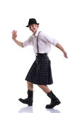 Funny Scotsman isolated on white Stock Photos