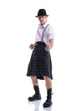 Funny Scotsman isolated on white Stock Images