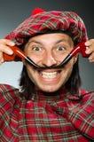 Funny scotsman Stock Image