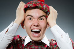 Funny scotsman in the studio Stock Photography