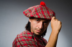 Funny scotsman in traditional Stock Images